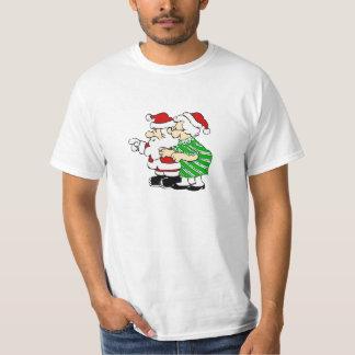 Mr and Mrs Santa Claus T-Shirt