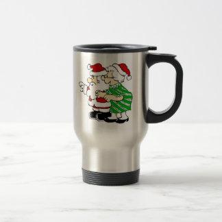 Mr and Mrs Santa Claus Travel Mug