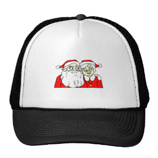 Mr and Mrs Santa Claus Trucker Hat