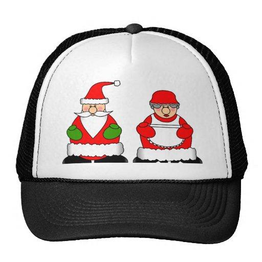 Mr and mrs santa claus trucker hat zazzle
