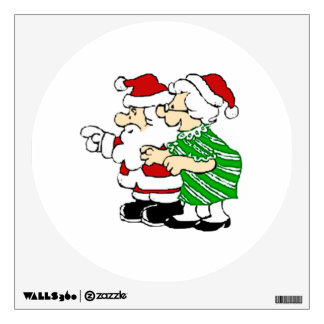Mr and Mrs Santa Claus Wall Decal