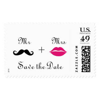 Mr and Mrs Save the Date Postage Stamps