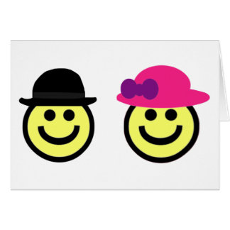 Mr. and Mrs.Smiley Face Card