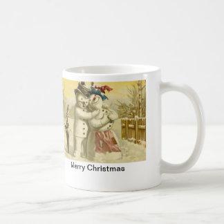 Mr and Mrs Snowman mug