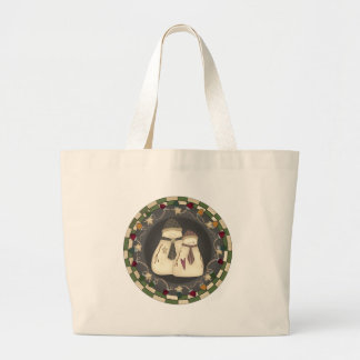 Mr and Mrs Snowmen Bags