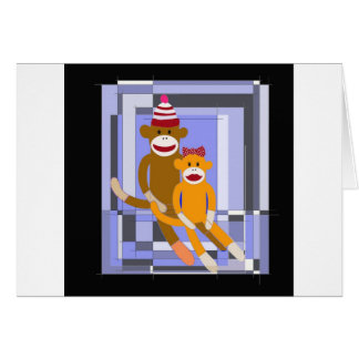 Mr. and Mrs. Sock Monkey. Greeting Cards