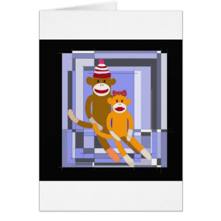 Mr. and Mrs. Sock Monkey. Cards