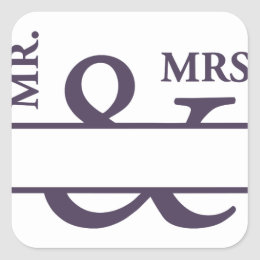 Mr And Mrs Square Sticker