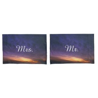 Mr. and Mrs. Sunset over the Desert Pillowcase
