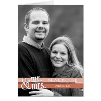 Mr. and Mrs. Thank You Card - Peach