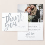 """MR AND MRS THANK YOU CARD (PHOTO)<br><div class=""""desc"""">A MODERN THANK YOU CARD FEATURING ON TREND CALLIGRAPHY WITH SPACE FOR A PHOTOGRAPH AND MESSAGE TO YOUR GUESTS.</div>"""