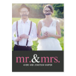MR. AND MRS. Thank You Postcard Post Cards