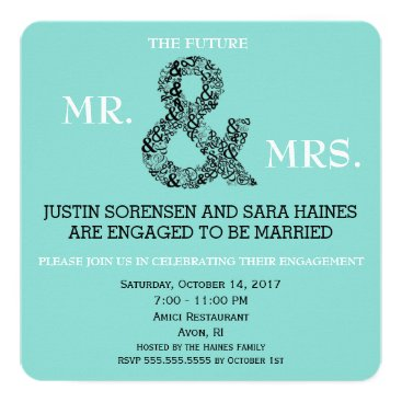 Mr And Mrs To Be Engagement Party Invitation