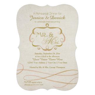 Mr and Mrs Typography Flourish Scroll Watercolor Custom Invites