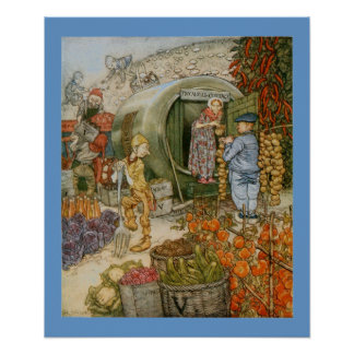 Mr and Mrs Vinegar and English Story Print