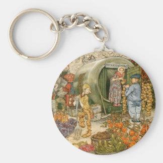 Mr and Mrs Vinegar at Home Basic Round Button Keychain