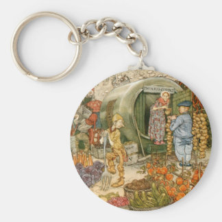 Mr and Mrs Vinegar at Home Keychain