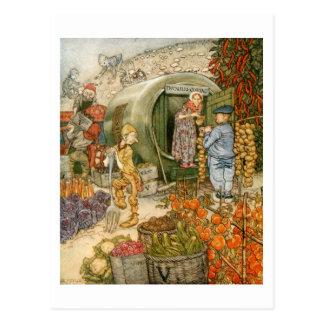 Mr and Mrs Vinegar at Home Postcard