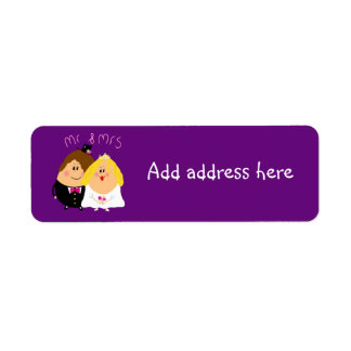 Mr and Mrs Wedding address labels for invitations
