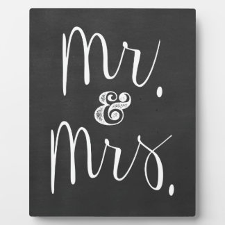 Mr. and Mrs. Wedding Chalkboard Plaque
