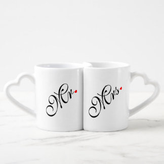Mr and Mrs Wedding Couple Couples' Coffee Mug Set