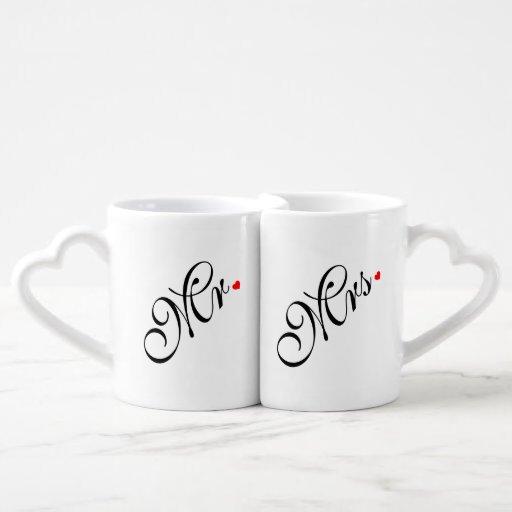 Mr and Mrs Wedding Couple Couples' Coffee Mug Set