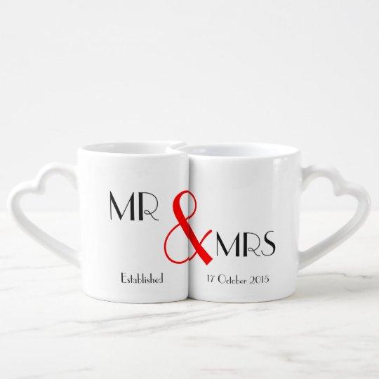 Mr And Mrs Wedding Gift Coffee Mug Set
