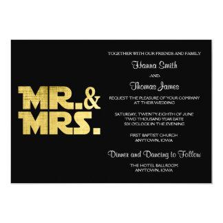 Mr and Mrs Wedding Invitation