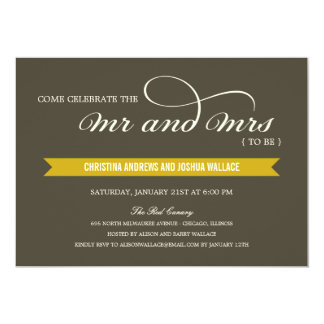 "Mr and Mrs Wedding Shower /Rehearsal Dinner Invite 5"" X 7"" Invitation Card"