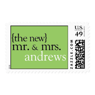 Mr. and Mrs. Wedding Stamps