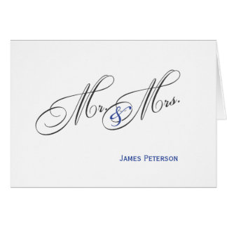 Mr. and Mrs. |  Wedding Thank You  |  Blue Card