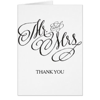 Mr. and Mrs. Wedding Thank you card