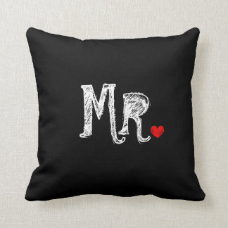 Mr and Mrs wedding throw pillow for newly weds