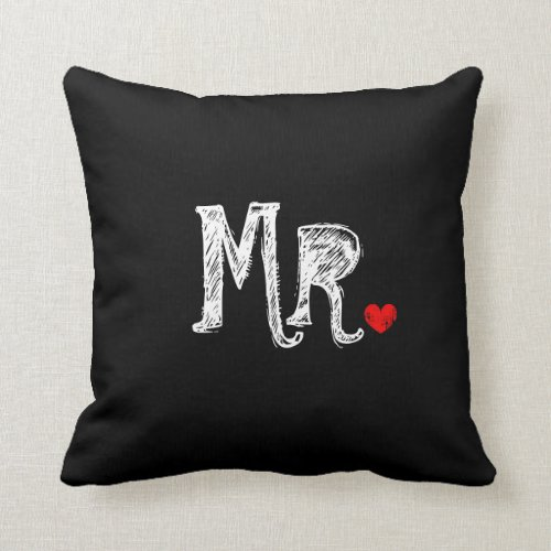 Mr and Mrs wedding throw