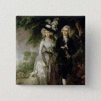Mr and Mrs William Hallett , c.1785 Pinback Button
