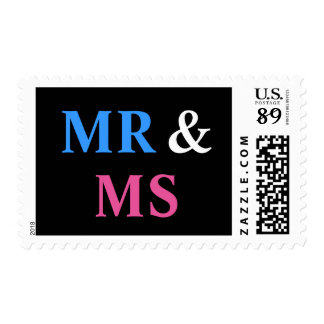 Mr and Ms Wedding Marriage Stamp