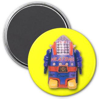 Mr. Atomic Toy Robot Round Magnet