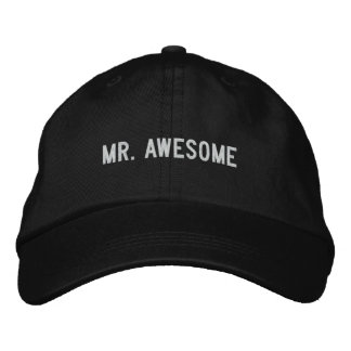 mr. awesome embroidered hat