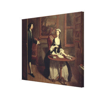 Mr. B. finds Pamela writing, illustration from Ric Canvas Print
