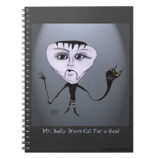 """Mr. Badly Drawn Cat-For-a-Hand"" Notebook"