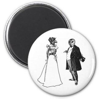 Mr Barnowl & Mrs Llama 2 Inch Round Magnet