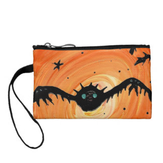 Mr. bat #1 painting by Tia Knight Coin Purse