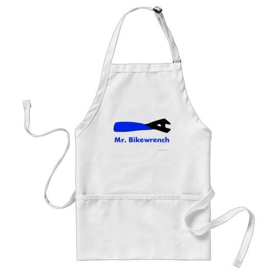 Mr. Bikewrench blue Adult Apron