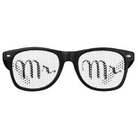 Mr. Black on White Retro Sunglasses
