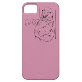 Mr Blobby illustration phone case