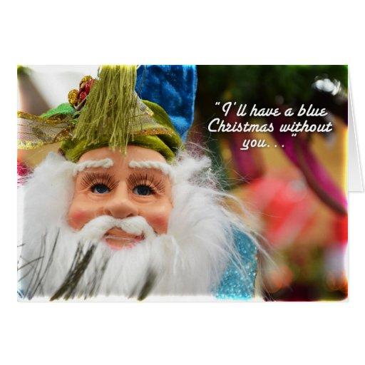 Mr. Blue Claus Greeting Card