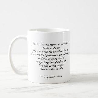 Mr. Bluefin Classic White Coffee Mug