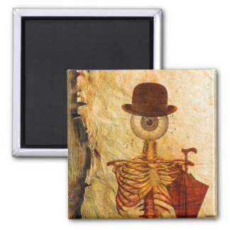 Mr Bone 2 Inch Square Magnet