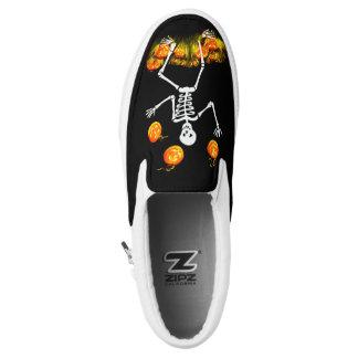 Mr Bone Jangles Halloween slip on sneakers Printed Shoes
