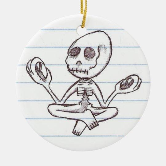 Mr. Bones Ceramic Ornament